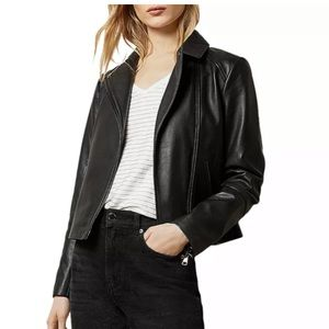 BNWT Ted Baker Black Leather Jacket Size 1 Janeal
